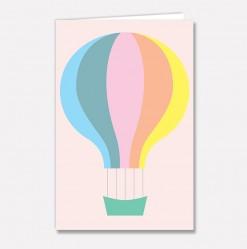 Stort kort Fargeballong