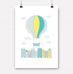 plakat gul byballong