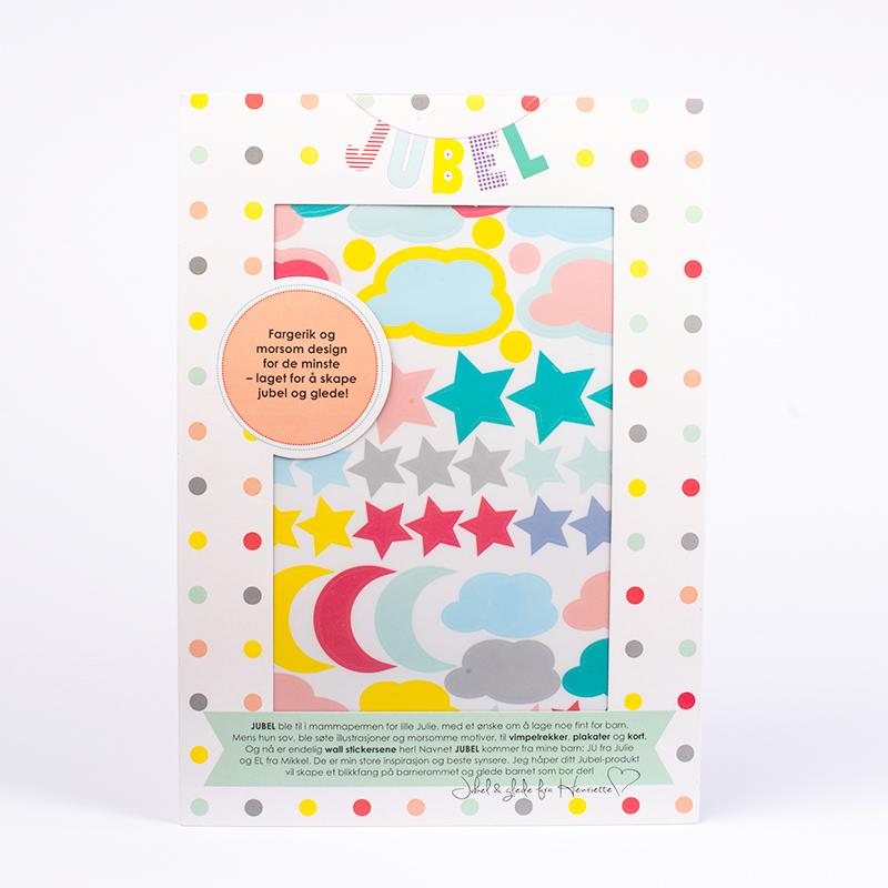 Wall stickers - Jubelvaer - Jubelshop - Skyer, stjerner og sol!