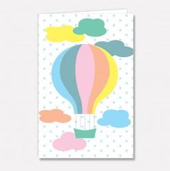 Stort kort Luftballongsky