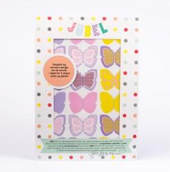 Sommerfugl-wall-stickers-bak-jubel-jubelshop-barnerom-fargerike