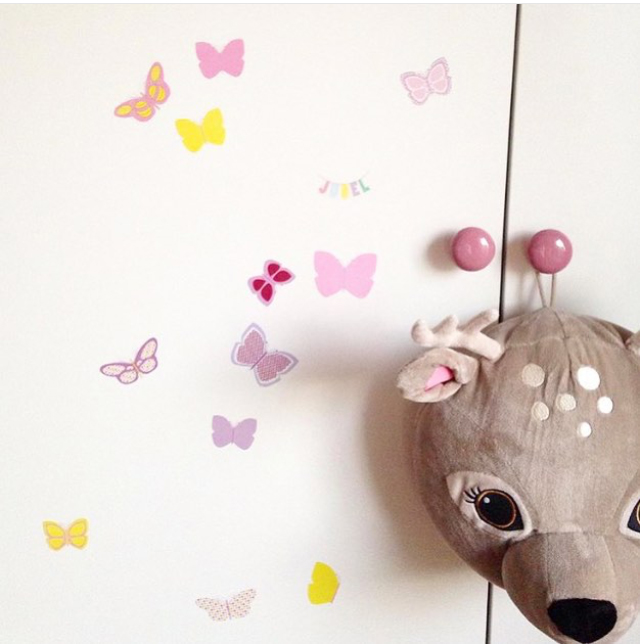 Wall stickers   jubel   jubelshop   barnerom   sommerfugler
