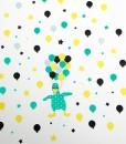 Wall-stickers-ballongflamingo-grønn-vegg