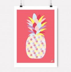 Rød Ananas plakat