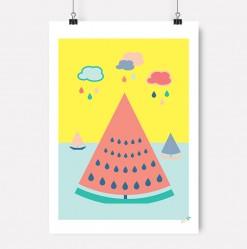 Plakat vannmelon barnerom