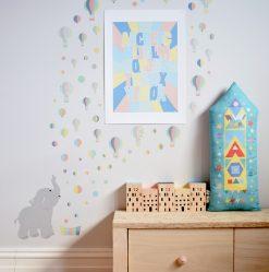jubel-jubelshop-wallstickers-veggklistremerke-puter-ballong-elefant-rakett
