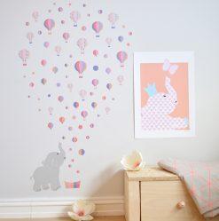 jubel-jubelshop-wallstickers-veggklistremerke-sommerfugl-elefant