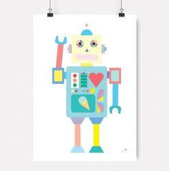 Jubel-jubelshop-Robot-plakat-barnerom